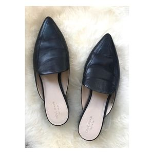 Cole Haan PiperMules in Black Leather